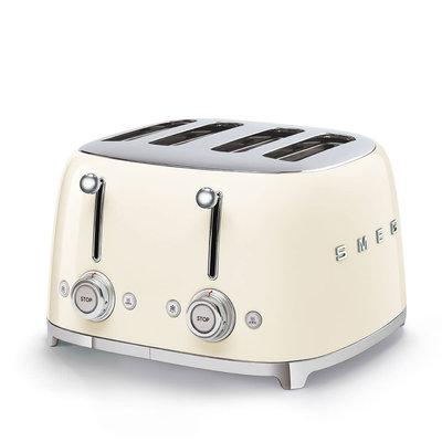 SMEG Toaster 4-Slot 50'S Style Cream