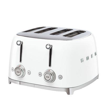 SMEG Toaster 4-Slot 50'S Style White