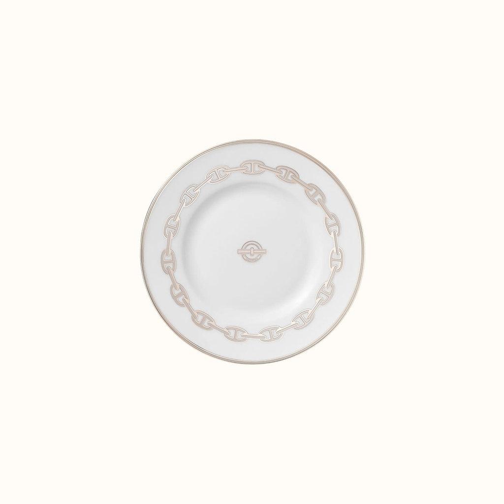 HERMES Chaîne D'ancre Platine Assiette À Pain 6.5'' - 16.5 Cm