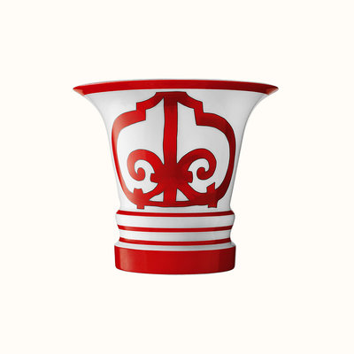 HERMES Balcon Du Guadalquivir Vase Large Model 6.7'' - 17 Cm
