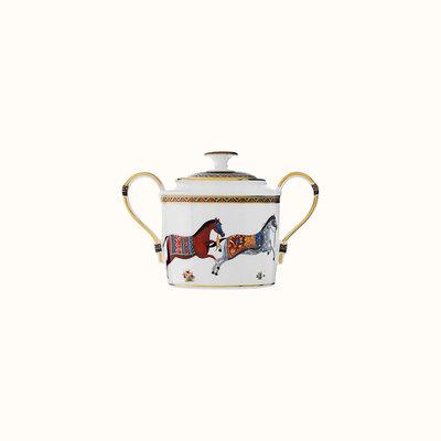 HERMES Cheval D'orient Sugar Bowl 32.5 Oz