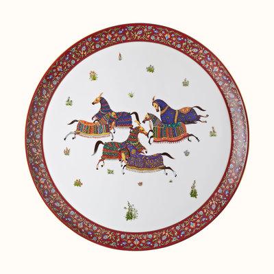 HERMES Cheval D'orient Round Platter, Large Model Nº1 17.3'' - 44 Cm