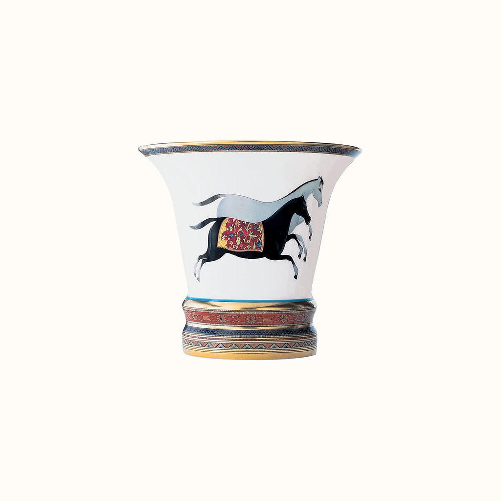 HERMES Cheval D'orient Petit Vase 5.5''