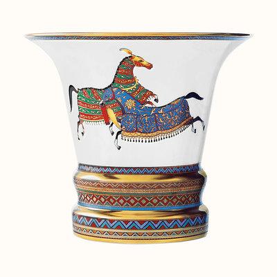 HERMES Cheval D'orient Grand Vase 6.7''