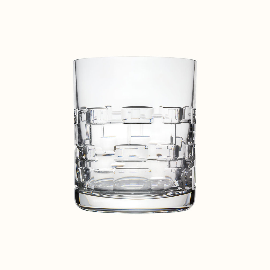 HERMES Adage Gobelet Grand Modèle En Cristal 10.1 Oz