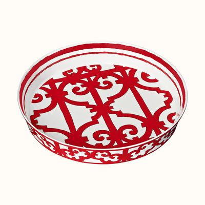 HERMES Balcon Du Guadalquivir Porcelain Baking Dish 14'' - 35.5 Cm