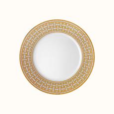 HERMES Mosaique Au 24 Or Assiette De Dîner 10.8'' - 27.5 Cm