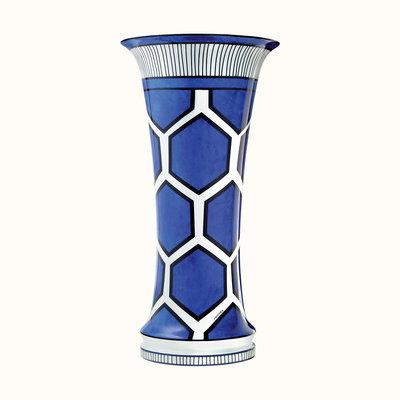 HERMES Bleus D'ailleurs Très Grand Vase 15.6'' - 39.5 Cm