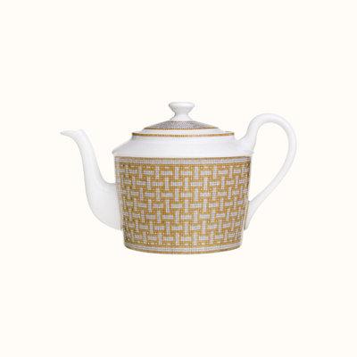 HERMES Mosaique Au 24 Gold Teapot 30 Oz