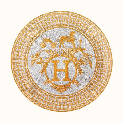 HERMES Mosaique Au 24 Gold Tart Platter 12.6'' - 32 Cm