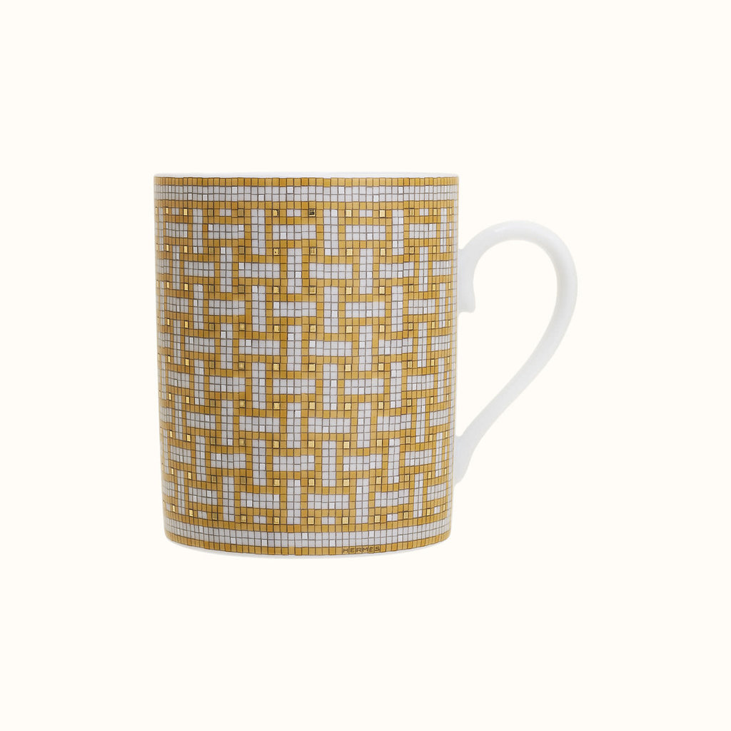 HERMES Mosaique Au 24 Or Mug 10.5 Oz