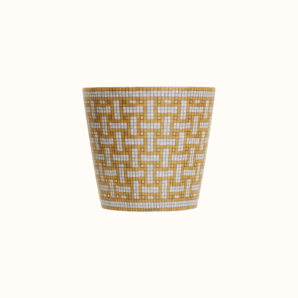HERMES Mosaique Au 24 Or Gobelet 6.7 Oz
