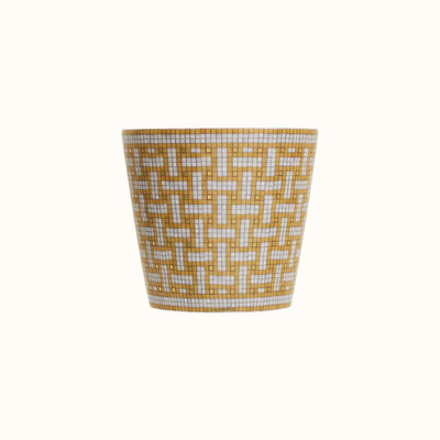 HERMES Mosaique Au 24 Gold Tumbler 6.7 Oz