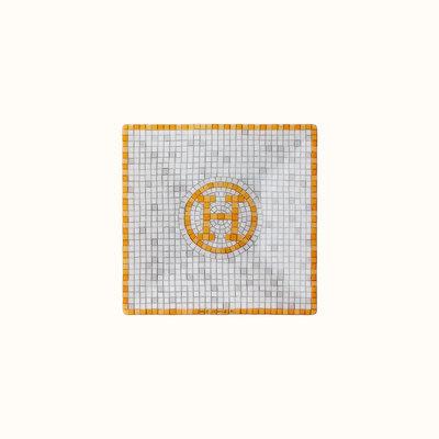 HERMES Mosaique Au 24 Gold Square Plate Nº1 2.8 X 2.8'' - 7 X 7 Cm