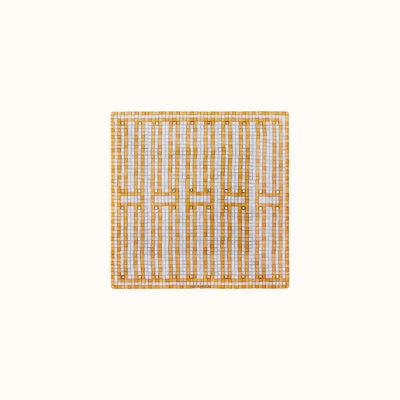 HERMES Mosaique Au 24 Or Petite Assiette Carré Nº2 4.3 X 4.3'' - 11 X 11 Cm