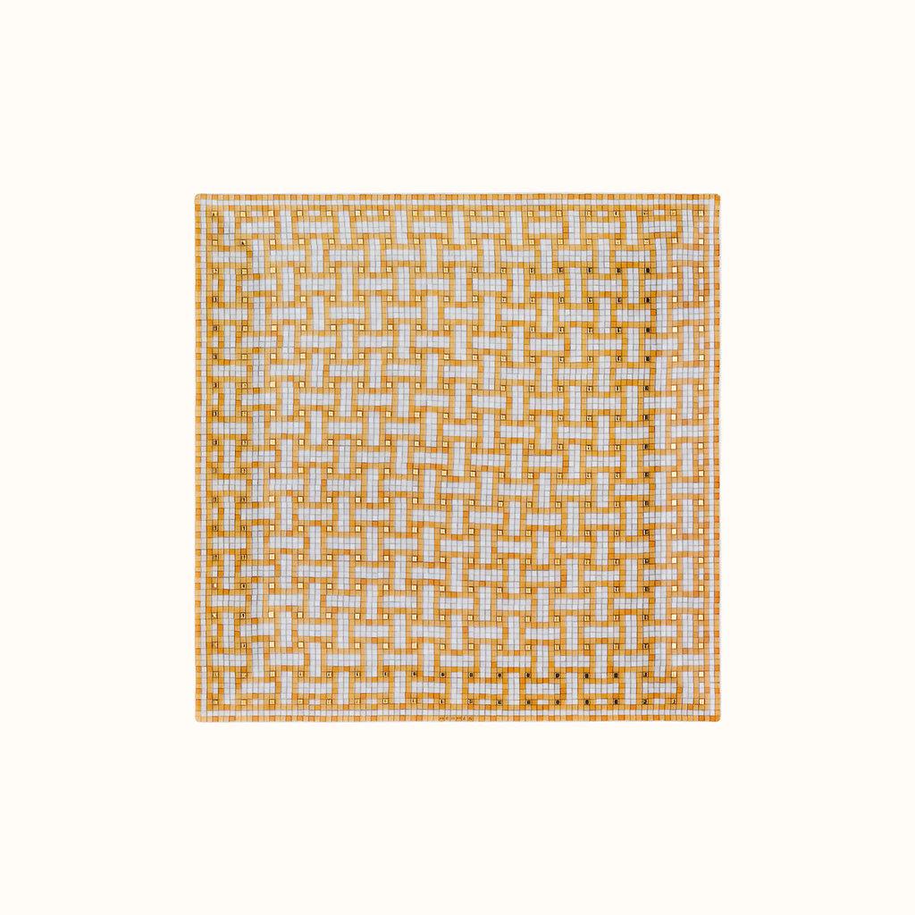 HERMES Mosaique Au 24 Or Petite Assiette Carrée Nº4 7.5 X 7.5'' - 19 X 19 Cm