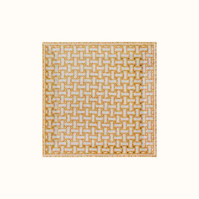 HERMES Mosaique Au 24 Gold Square Plate Nº4 7.5 X 7.5'' - 19 X 19 Cm