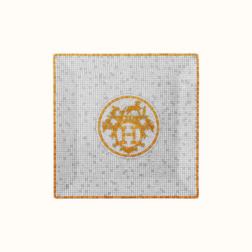 HERMES Mosaique Au 24 Or Petite Assiette Carré Nº3 5.9 X 5.9'' - 15 X 15 Cm