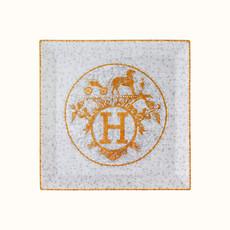 HERMES Mosaique Au 24 Or Petite Assiette Carrée Nº5