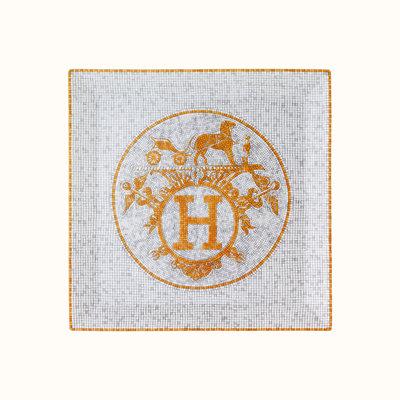 HERMES Mosaique Au 24 Gold Square Plate Nº5