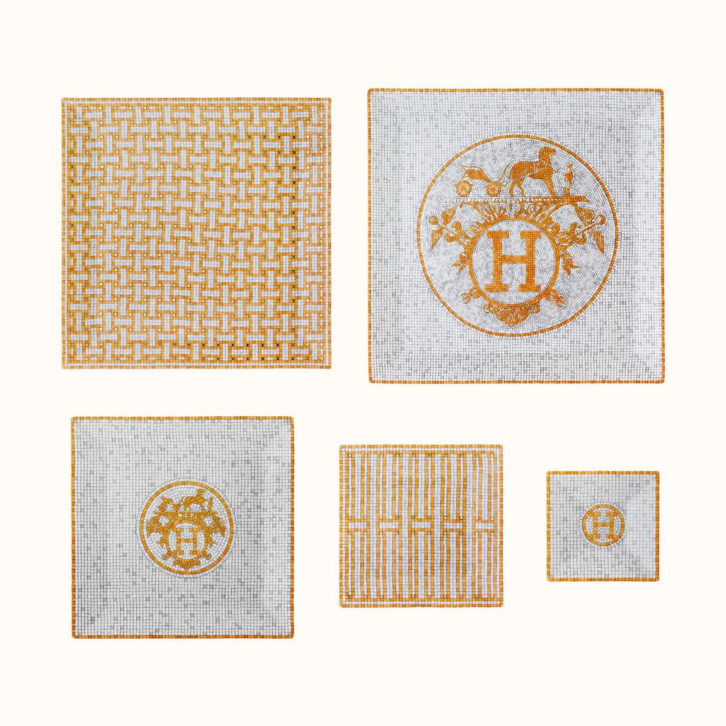 HERMES Mosaique Au 24 Or Coffret De 5 Petits Carrés Nº1 À Nº5