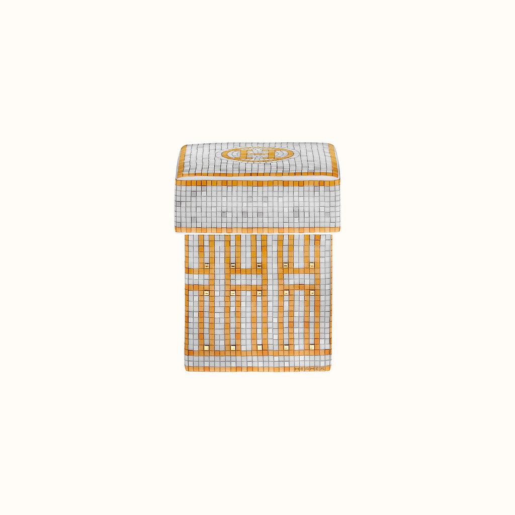 HERMES Mosaique Au 24 Or Petite Boîte 2 X 2 X 2.8'' - 5 X 5 X 7 Cm