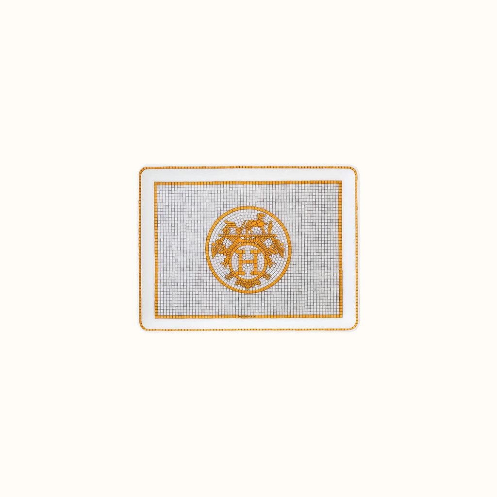 HERMES Mosaique Au 24 Or Assiette Asiatique À Sushis 6.3 X 4.7'' - 16 X 12 Cm