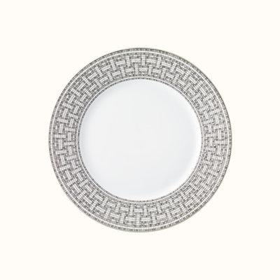 HERMES Mosaique Au 24 Platine Assiette De Dîner 10.8'' - 27.5 Cm