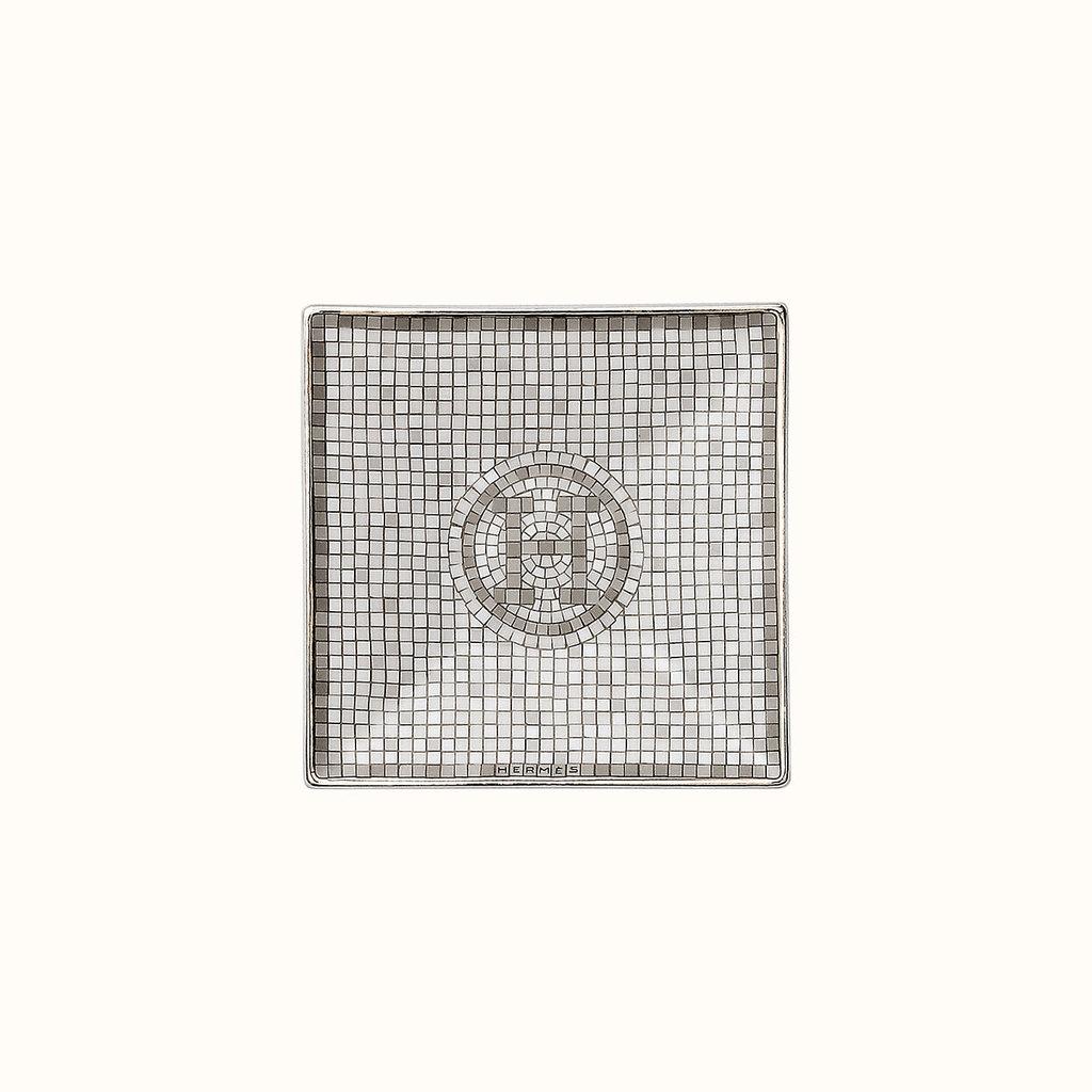 HERMES Mosaique Au 24 Platine Petite Assiette Carrée Nº1 2.8 X 2.8'' - 7 X 7 Cm