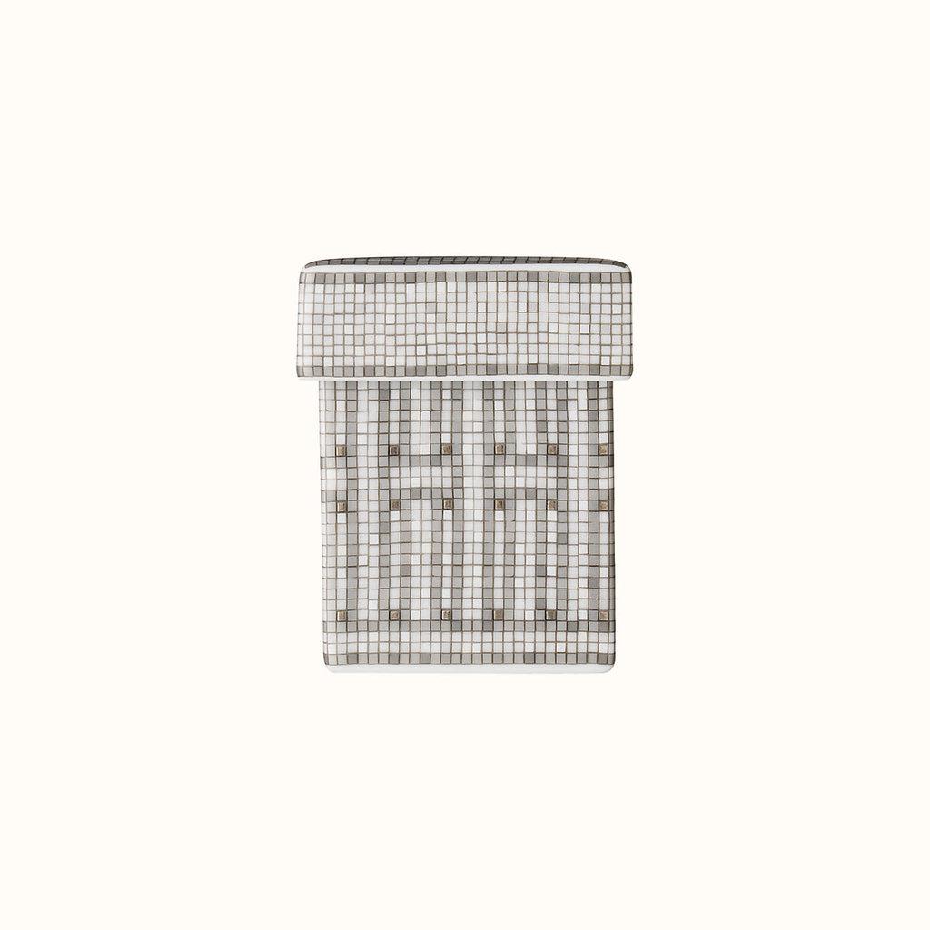 HERMES Mosaique Au 24 Platine Petite Boîte 2 X 2 X 2.8'' - 5 X 5 X 7 Cm