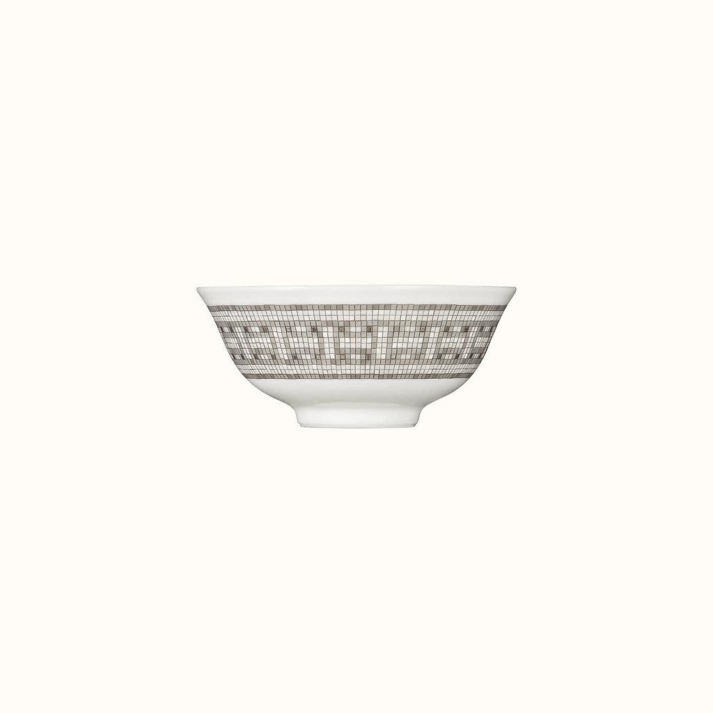 HERMES Mosaique Au 24 Platine Bol À Soupe Asiatique 4.3'' - 11 Cm