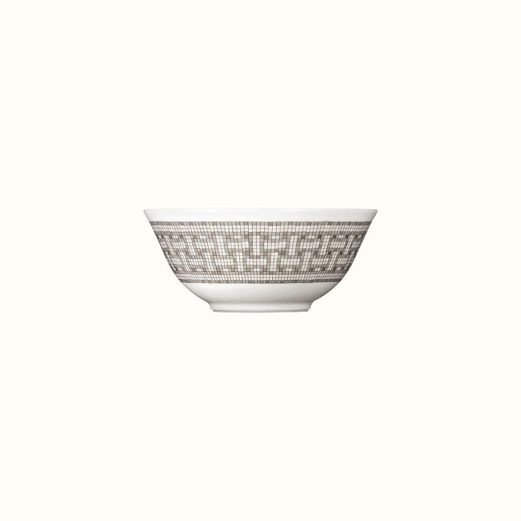 HERMES Mosaique Au 24 Platine Bol À Riz 4.9'' - 12.5 Cm