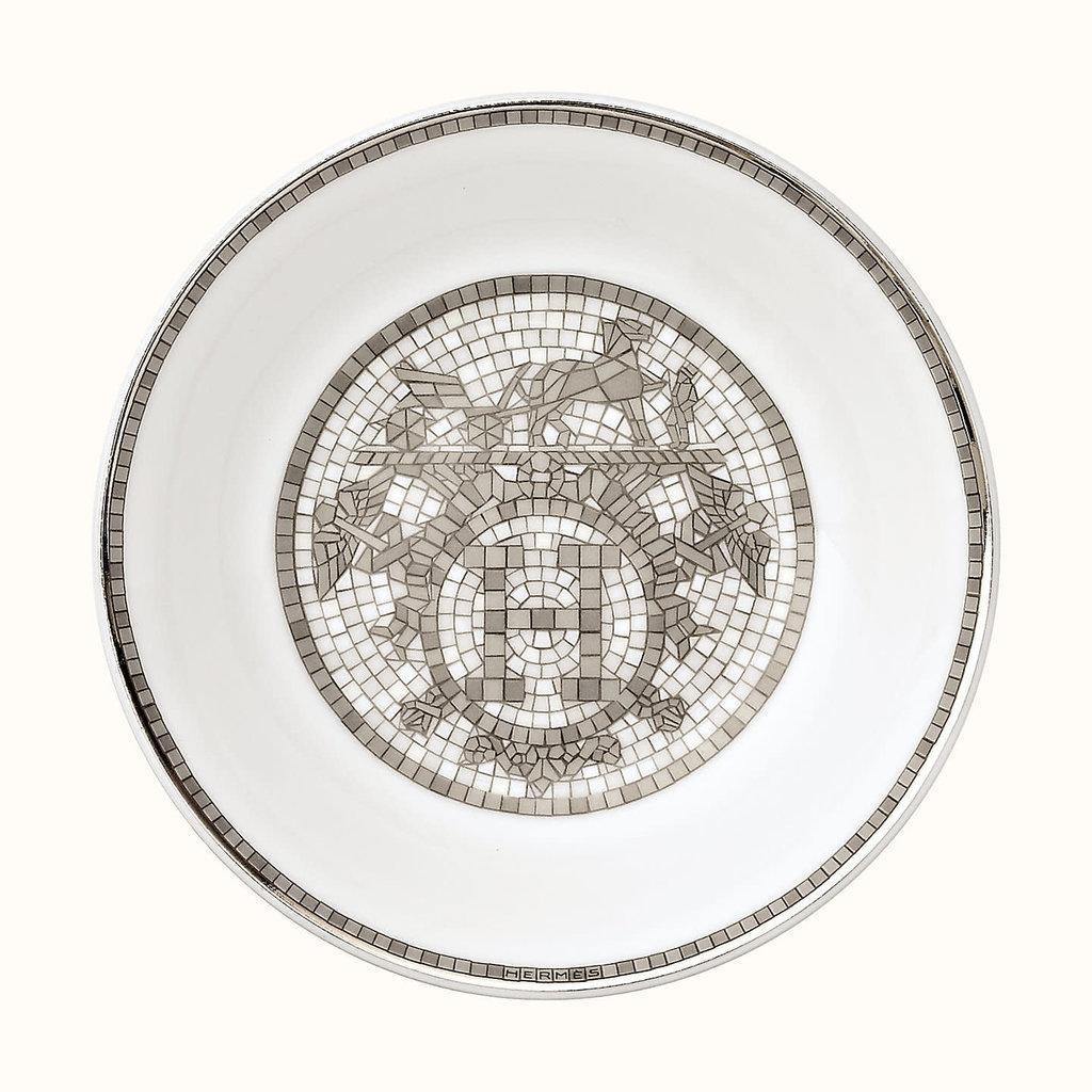 HERMES Mosaique Au 24 Platine Coupelle À Soja Asiatique 3.9'' - 10 Cm