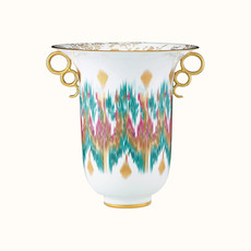 HERMES Voyage En Ikat Vase 10.6'' - 27 Cm