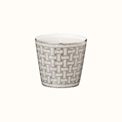 HERMES Mosaique Au 24 Platine Gobelet Bougie 6.4 Oz - 7 Cm