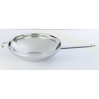 "DEMEYERE Stainless Steel 12.5"" Wok With Flat Base"