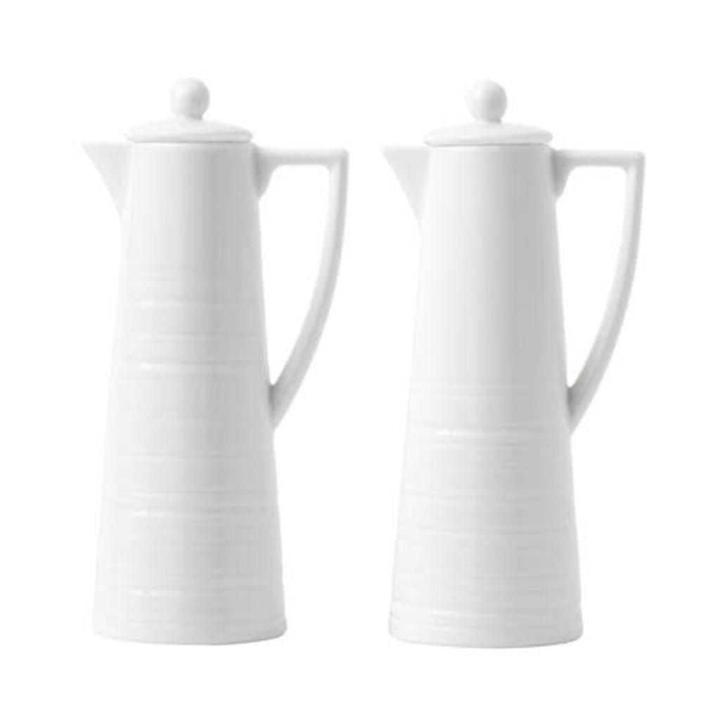 WEDGWOOD Jasper Conran White Strata Oil & Vinegar Set