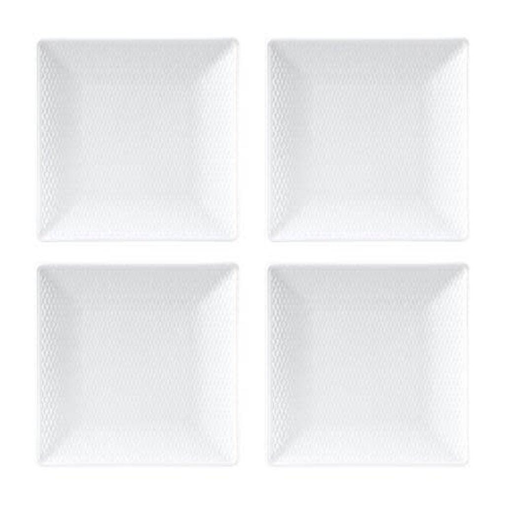 "WEDGWOOD Gio Mini Plate Square 5.7"" Set/4"