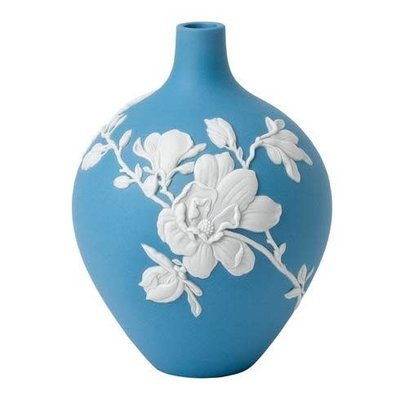 """WEDGWOOD Jasperware Magnolia Blossom Bud Vase 5"""""""
