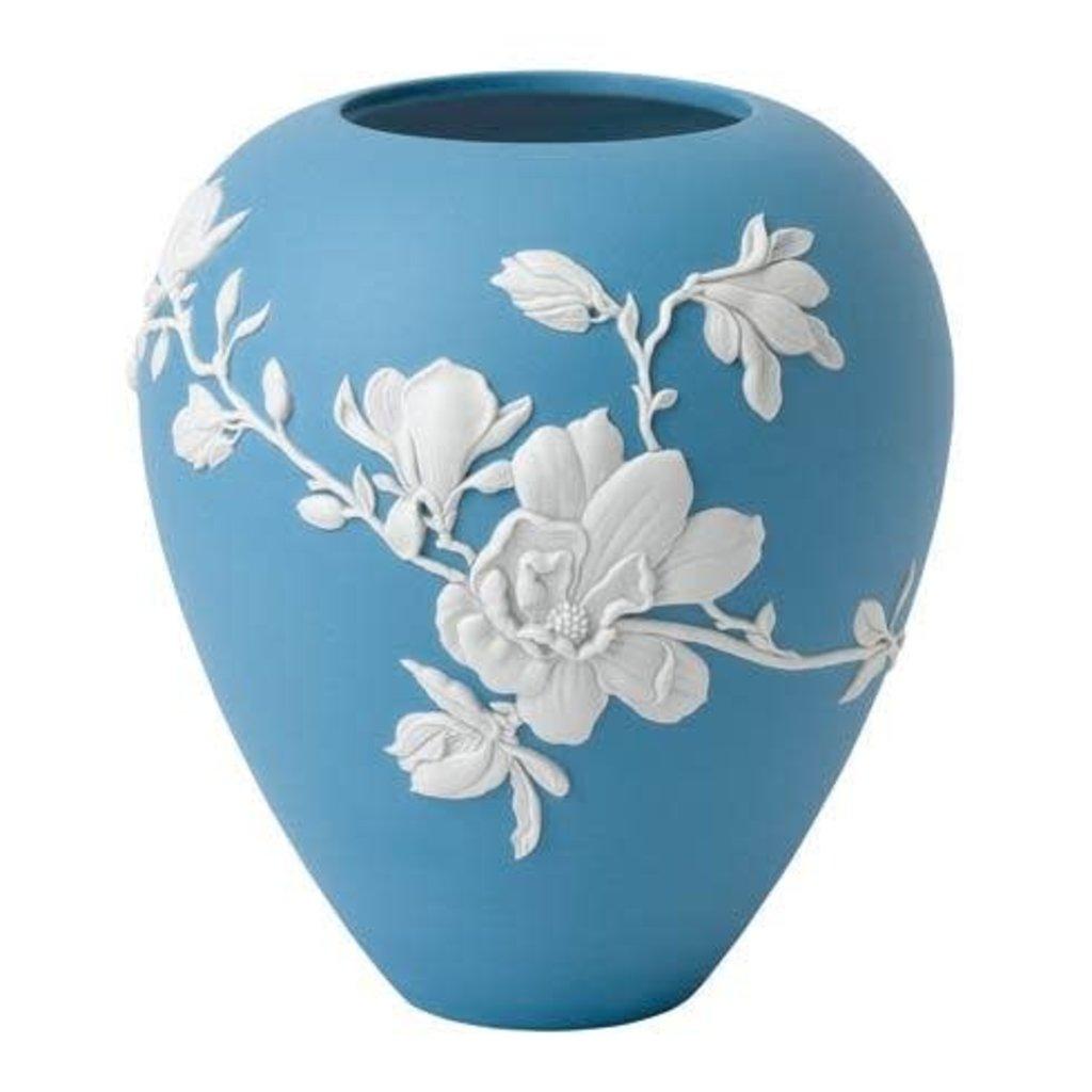 """WEDGWOOD Jasperware Magnolia Blossom Vase 7"""""""