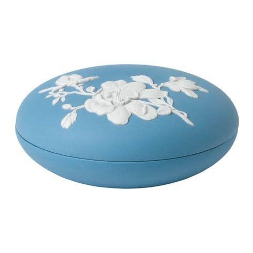"WEDGWOOD Jasperware Magnolia Blossom Box 5"""