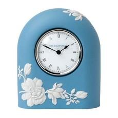 "WEDGWOOD Jasperware Magnolia Blossom Clock 4.7"""