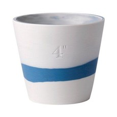 "WEDGWOOD Jasperware Burlington Pot 4"" Bleu & Blanc"