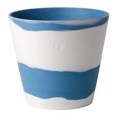 "WEDGWOOD Jasperware Burlington Pot 6"" Bleu & Blanc"
