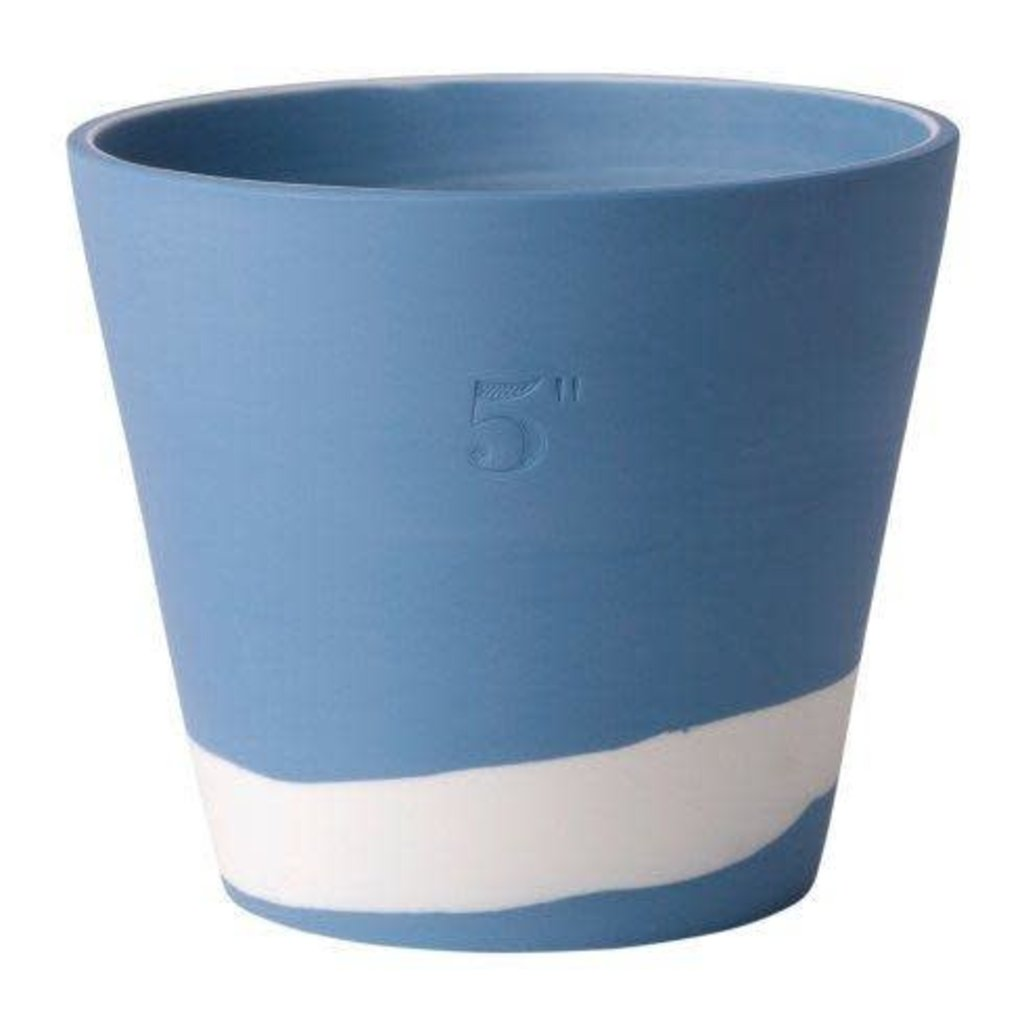 "WEDGWOOD Jasperware Burlington Pot 5"" Blue & White"