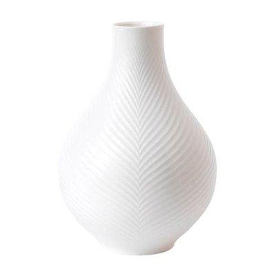 """WEDGWOOD White Folia Bulb Vase 9"""""""