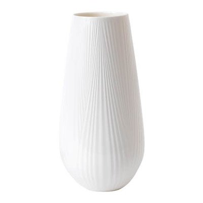 WEDGWOOD White Folia Vase Tall 11.8""
