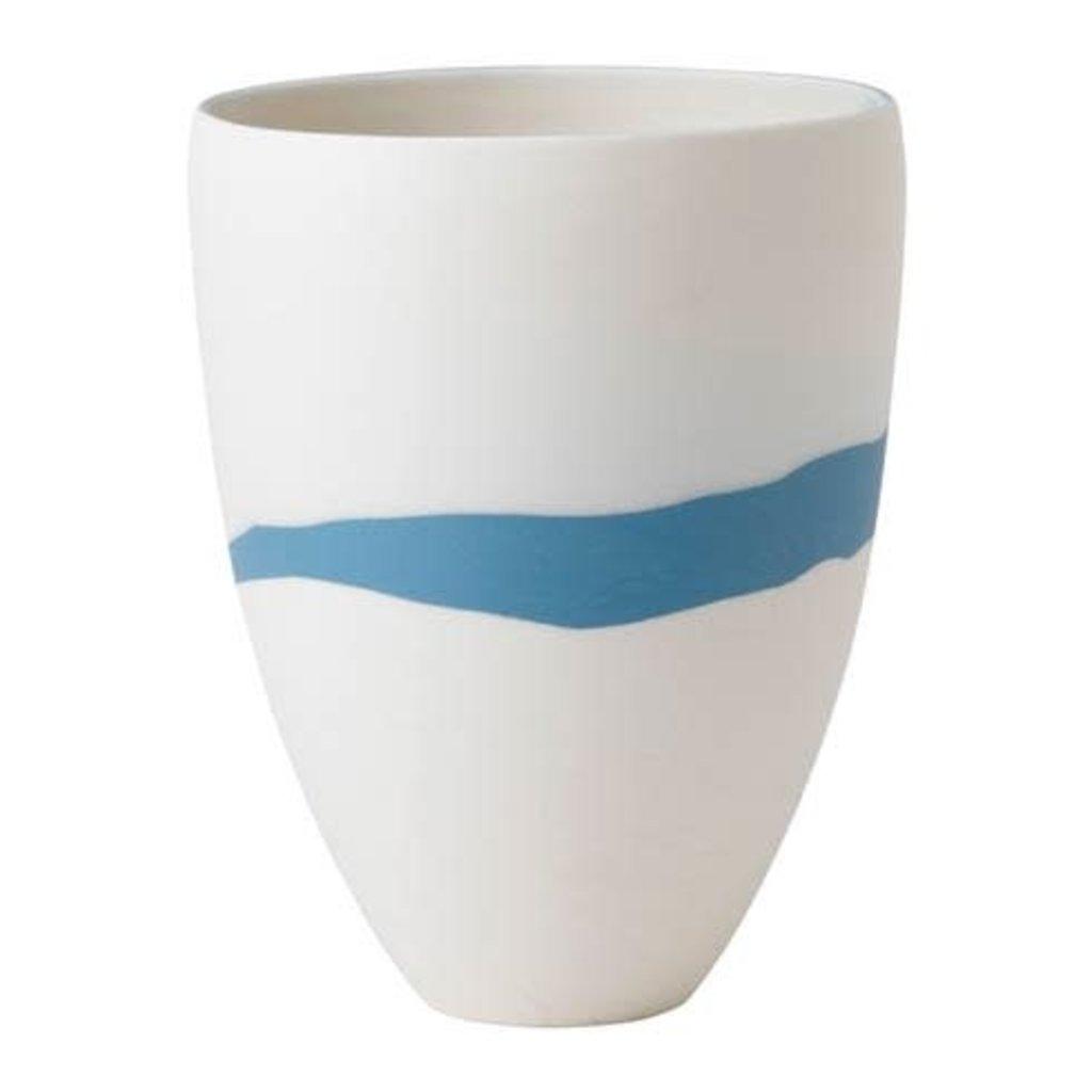 "WEDGWOOD Jasperware Blue Pebble Vase 7.9"""