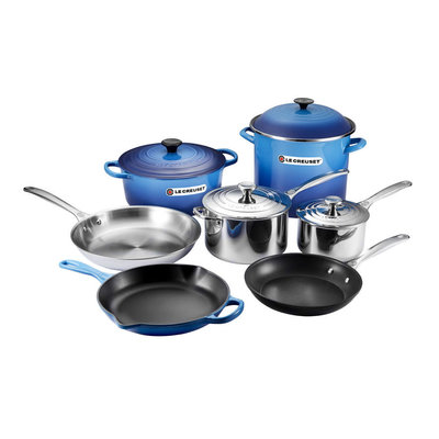 LE CREUSET 11 Piece Ultimate Cookware Set Blueberry