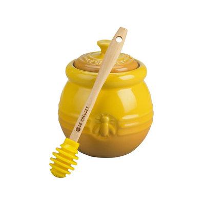 LE CREUSET Original .45 L Honey Pot W Honey Dipper Dijon